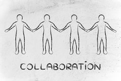 People holding hands and collaborating as part of a team Stock Image