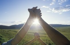 People Holding Hands, Hands Across America, New Mexico Stock Images