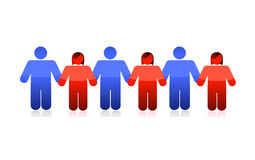 People holding hands illustration design Stock Photography