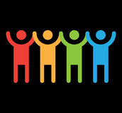 People Holding Hands Illustration. EPS 8 supported Stock Photography