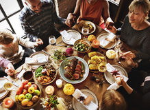 People Holding Hands Praying Thanksgiving Celebration Concept Stock Images