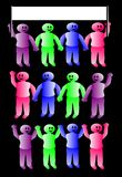 People holding hands Stock Images