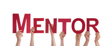 People Holding Mentor Stock Image