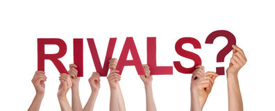 People Holding Rivals Stock Photography