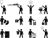 People holding stuff Royalty Free Stock Images