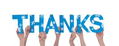 People Holding Thanks Royalty Free Stock Image
