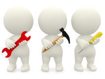 People holding tools Royalty Free Stock Photo
