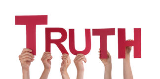 People Holding Truth Royalty Free Stock Photos