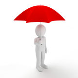 People holding an umbrella Stock Photography