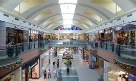 People Holiday Shop at The Wolfchase Mall, Memphis, Tennessee. Royalty Free Stock Photography