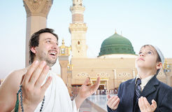 People on holy islamic duty in Makka Royalty Free Stock Photo