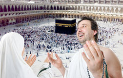 People on holy islamic duty in Makka Stock Photos