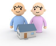 People Home. Joyous couple Royalty Free Stock Images