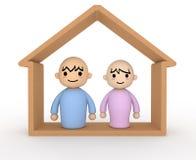People Home. Joyous couple Royalty Free Stock Photo