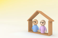 People Home Royalty Free Stock Photos