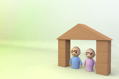 People Home. Joyous couple Stock Image