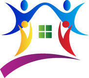 People home. A vector drawing represents people home design Stock Image