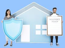 People and home insurance concept stock image