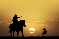 People horseback Stock Images