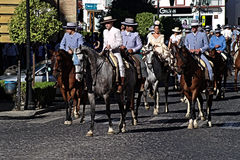 People on horses in a yearly pilgrimage Stock Image