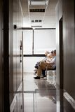 People In Hospital's Waiting Area Royalty Free Stock Images