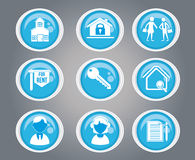 People and house vector illustration