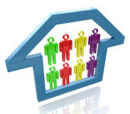 People in the house royalty free stock photography