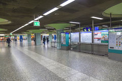 People hurry in the METRO station Stock Images