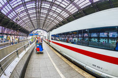 People hurry to the intercity train Stock Photography