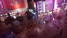 People hurrying in the shopping districtstation. Time Lapse stock video footage