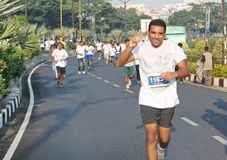 People at Hyderabad 10K Run Event, India Royalty Free Stock Images