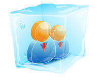 People in ice cube icon Royalty Free Stock Images