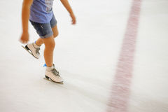 People at the ice rink. Royalty Free Stock Image