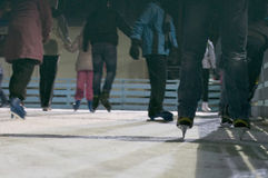 People at ice skate rink Stock Photography