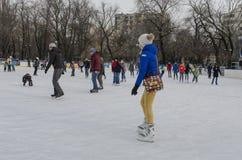 People ice skating Royalty Free Stock Image