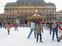 People ice skating Royalty Free Stock Images