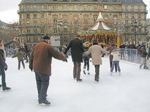 People ice skating Royalty Free Stock Photography