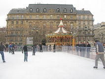 People ice skating Stock Photography