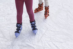 People ice skating Royalty Free Stock Photo