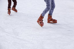 People ice skating Stock Images