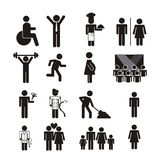 People icon. People signs isolated over white background. vector illustration Royalty Free Stock Image