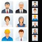 People Icon. Avatars of Various People Occupations Stock Images