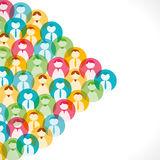 People icon background Stock Image