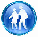 People icon blue Royalty Free Stock Image