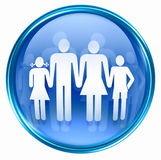 People icon blue Royalty Free Stock Images