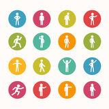 People icon Circle Series Royalty Free Stock Images
