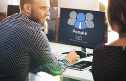 People Icon Community Homepage Information Concept Stock Photography