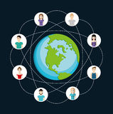 People icon. Connections concept. Flat illustration. Social medi Royalty Free Stock Image
