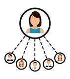People icon design Stock Photography