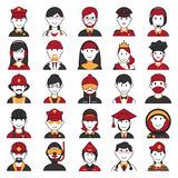 People icon for different professional Royalty Free Stock Photos